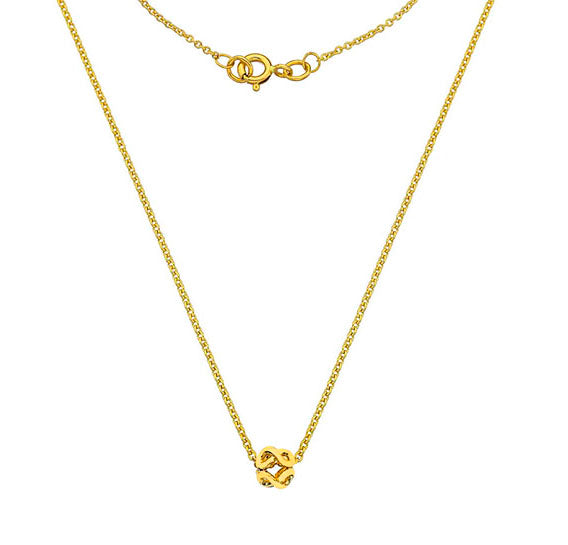 9ct Gold Infinity Pendant & Chain