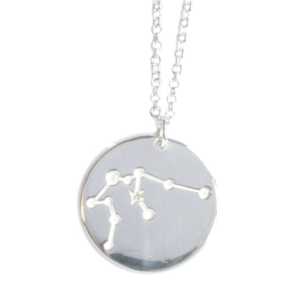 Silver Aquarius Pendant & Chain
