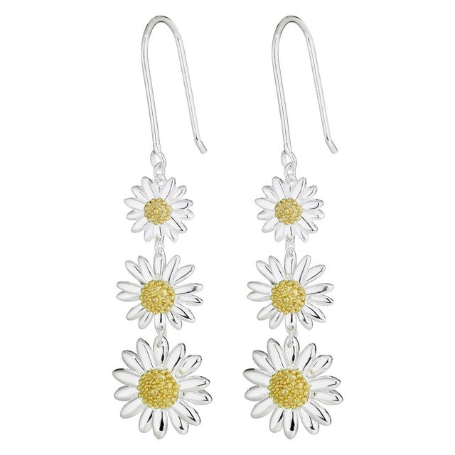 925 Silver Daisy Earrings