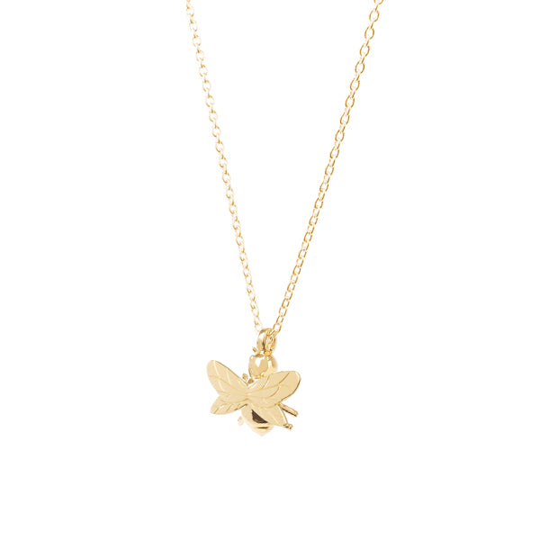 Silver Gold Plated Bee Necklace