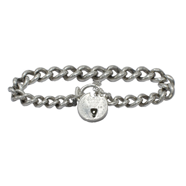 SIlver Threepence  Bracelet