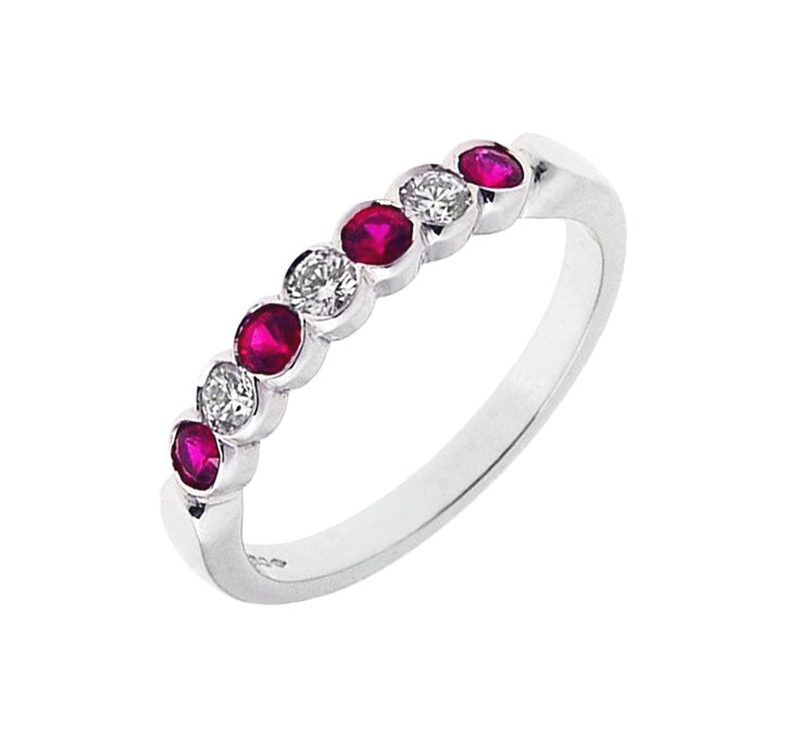18ct Ruby & Diamond Eternity Ring