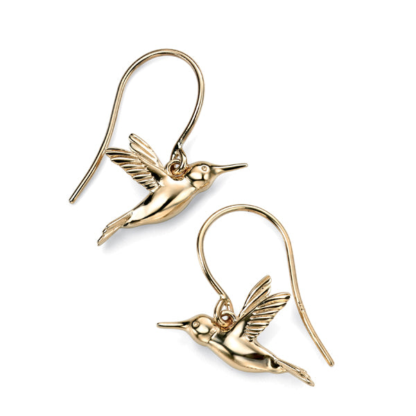 9ct Gold Hummingbird Earrings