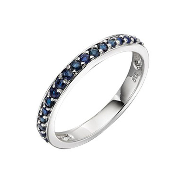 9ct White Gold Blue Sapphire Ring
