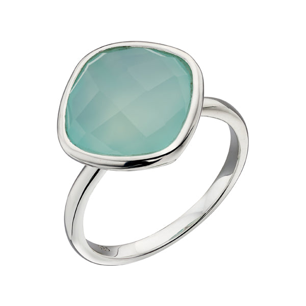 Silver Stone Set Ring