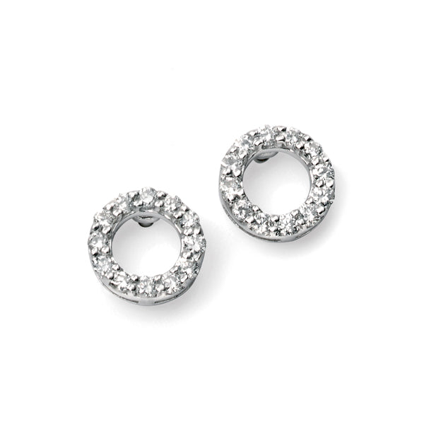 9ct White Diamond Set Earrings