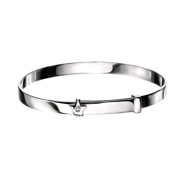 Diamond Set Star Baby Bangle