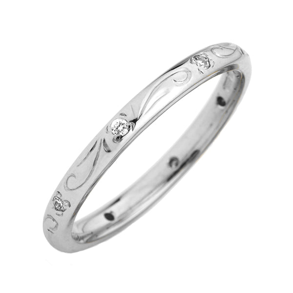 18ct Diamond Wedding Ring