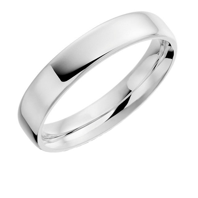 Platinum 4mm Ring