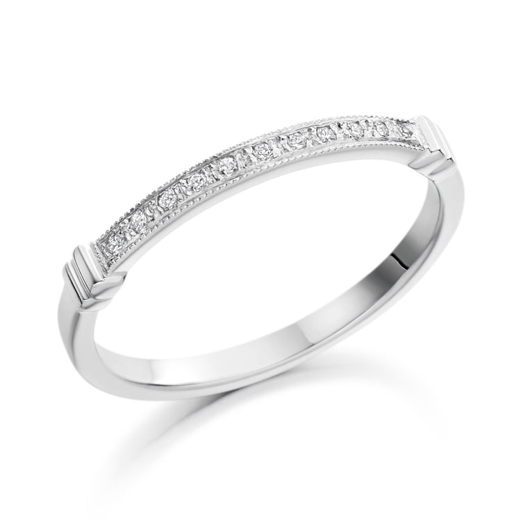 18ct White Gold Diamond  Wedding Ring