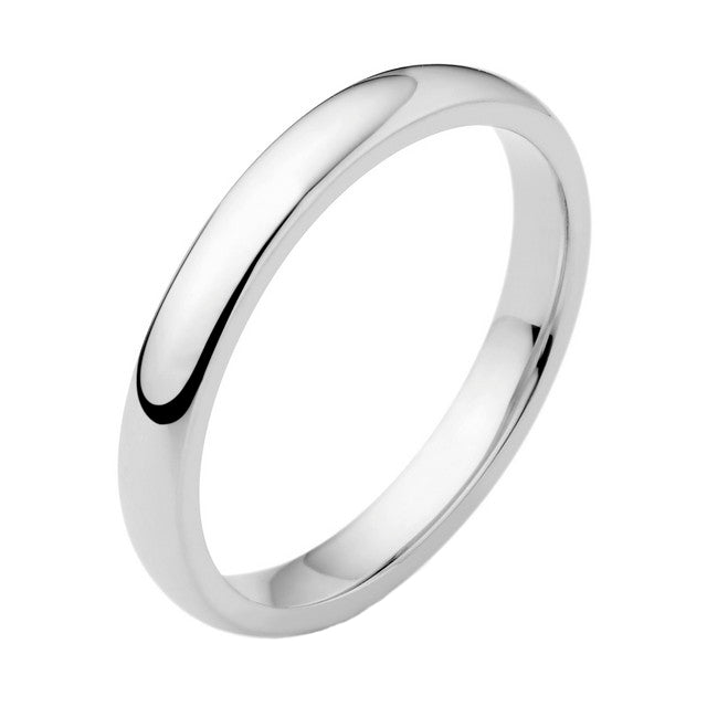 18ct White Classic Wedding Ring
