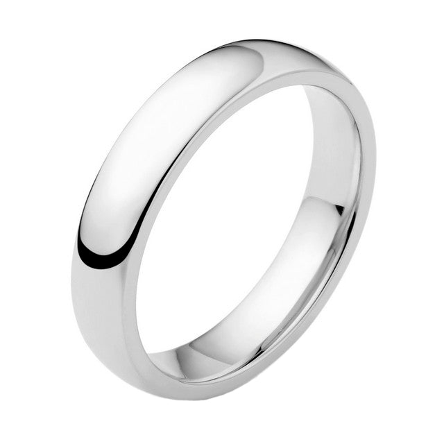 18ct White Gold 4mm Wedding Ring