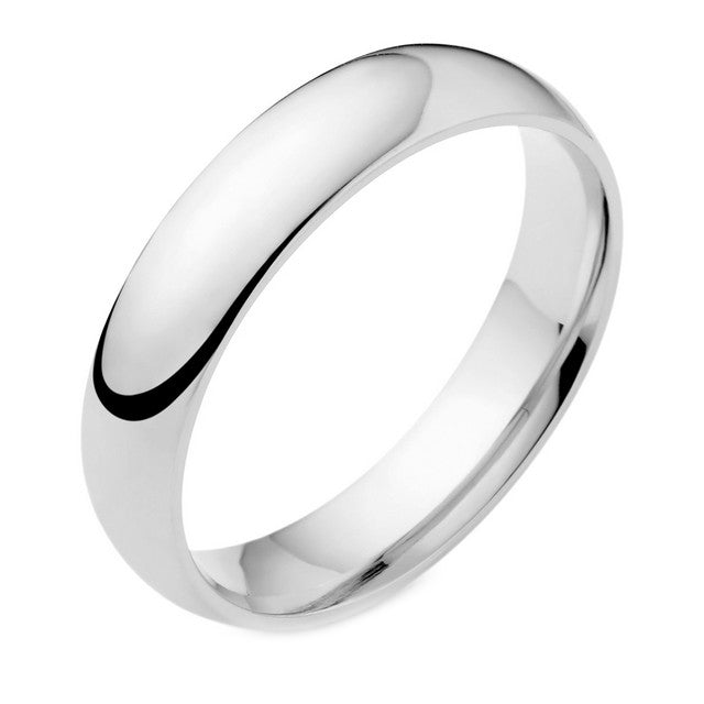 18ct White Gold 5mm Wedding Ring