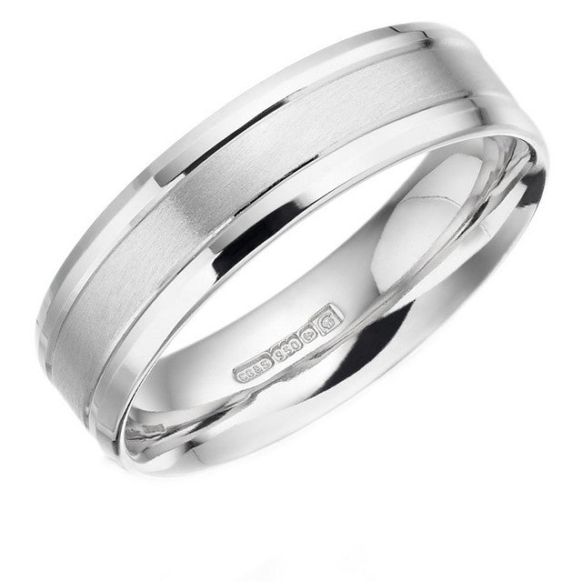 Palladium Flat Court Wedd Ring