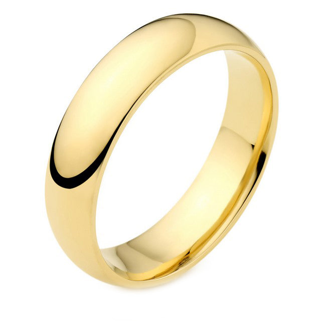 18ct Gold Medium Weight Court Ring