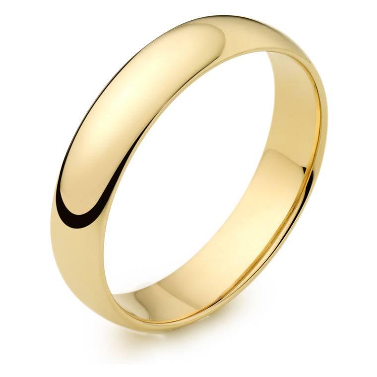 18ct Gold 4mm Wedding Ring