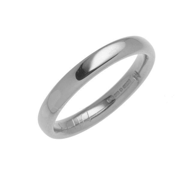 18ct White Wedding Band