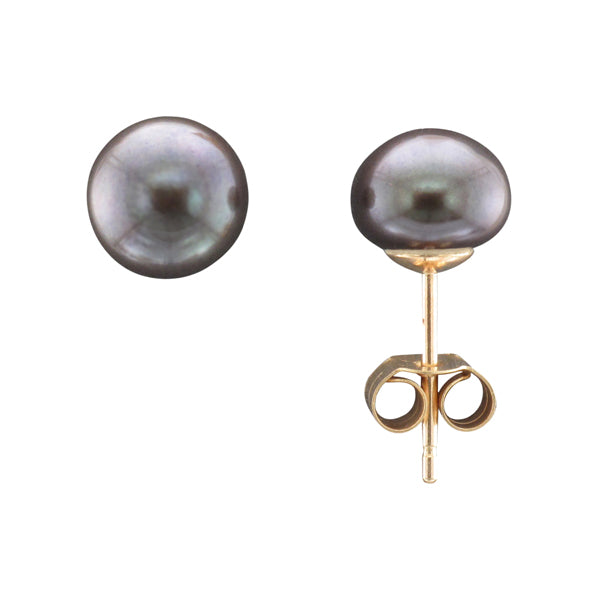 9ct 7mm Black Freshwater Pearl