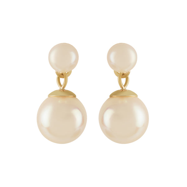 9ct Gold Freshwater Pearl Drop Earrings