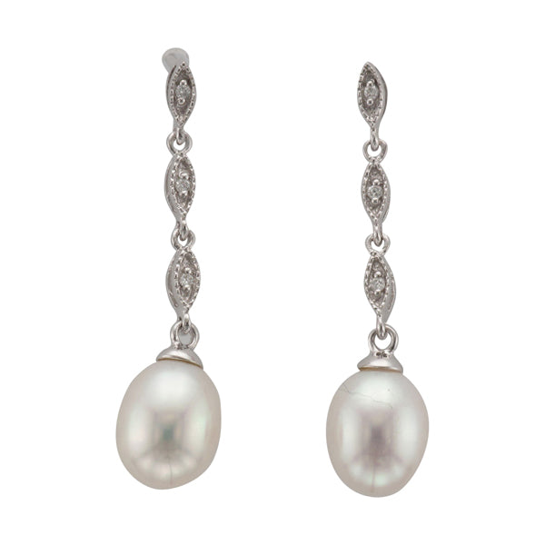 9ct Freshwater Pearl & Diamond