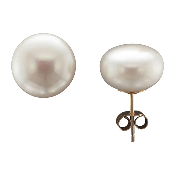 9ct 12mm Freshwater Pearl Earrings