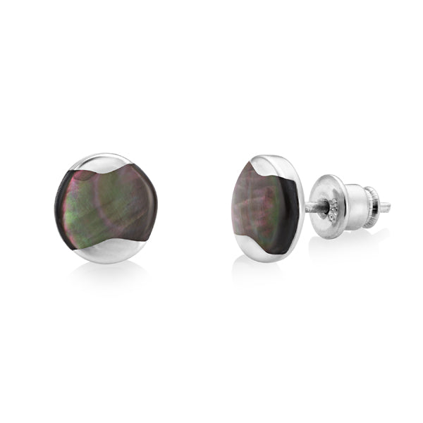 Silver Dune Stud Earrings