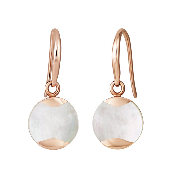 Rose Gold Plated Dune Drop Earrings
