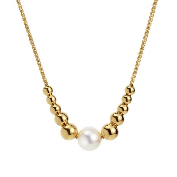 Gold Plated Coast Pearl Necklace