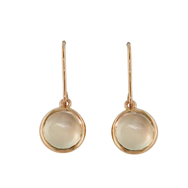 9ct Rose Gold Moonstone Drops