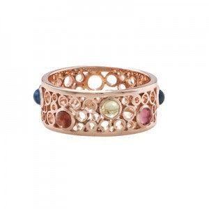 9ct Rose Gold Multi Gem Ring