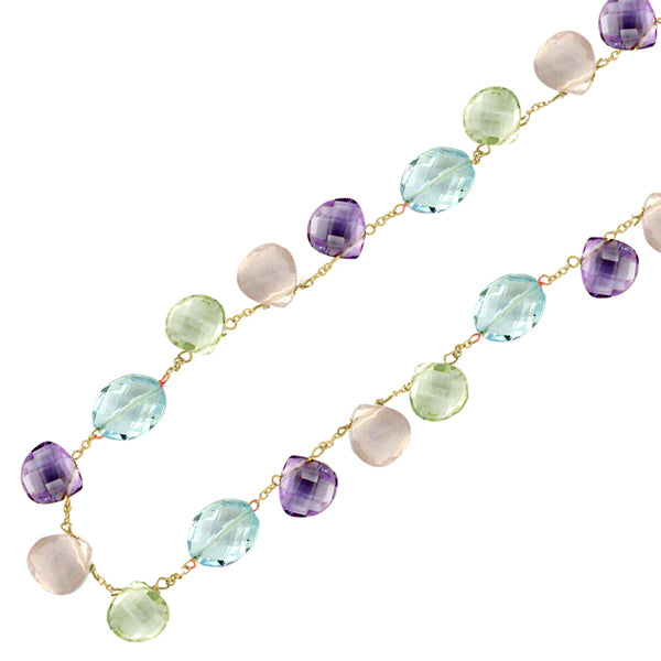 9ct Gold Multi Gem Necklace