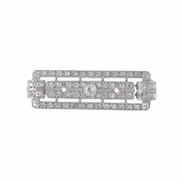 Diamond Plaque Brooch