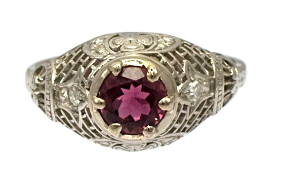 Platinum Pink Tourmaline Ring