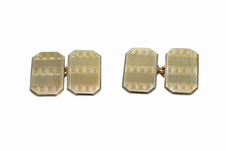 Vintage 1931 9ct Gold Cufflinks