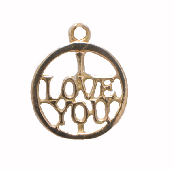 "Vintage 9ct Gold ""I Love You"" Charm"