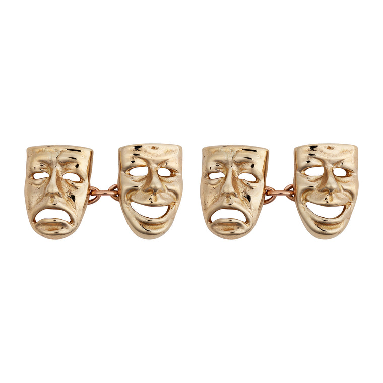 9ct Comedy/Tragedy Cufflinks