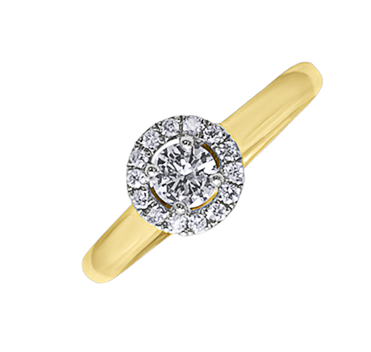 18ct Diamond Halo Ring