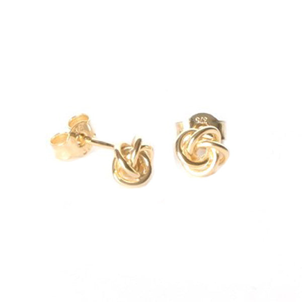 9ct Gold Knotted Stud Earrings