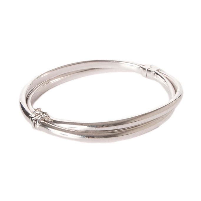 Silver Hinged Bangle