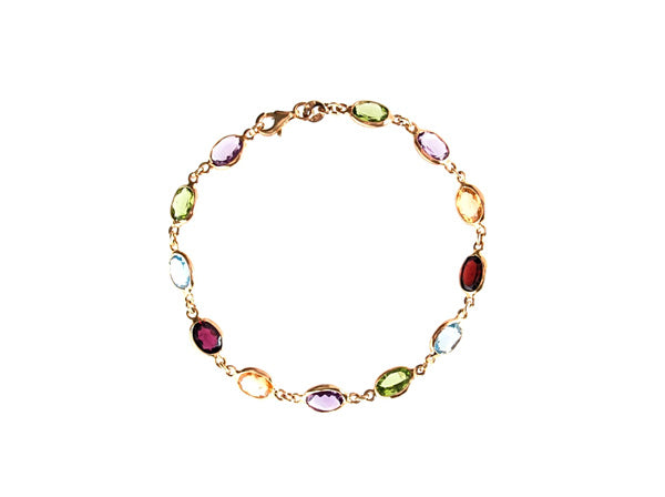9ct Gold Multi Gem Bracelet