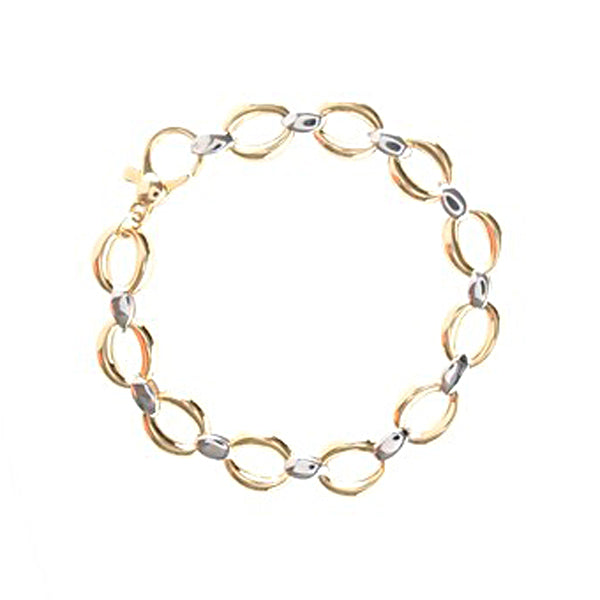 9ct Gold Oval Link Bracelet