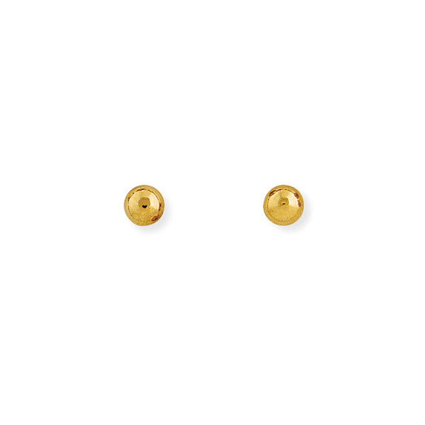 9ct Y/Gold 5mm Ball Earrings