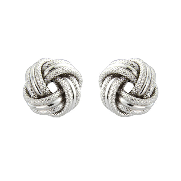 9ct White Gold Earrings