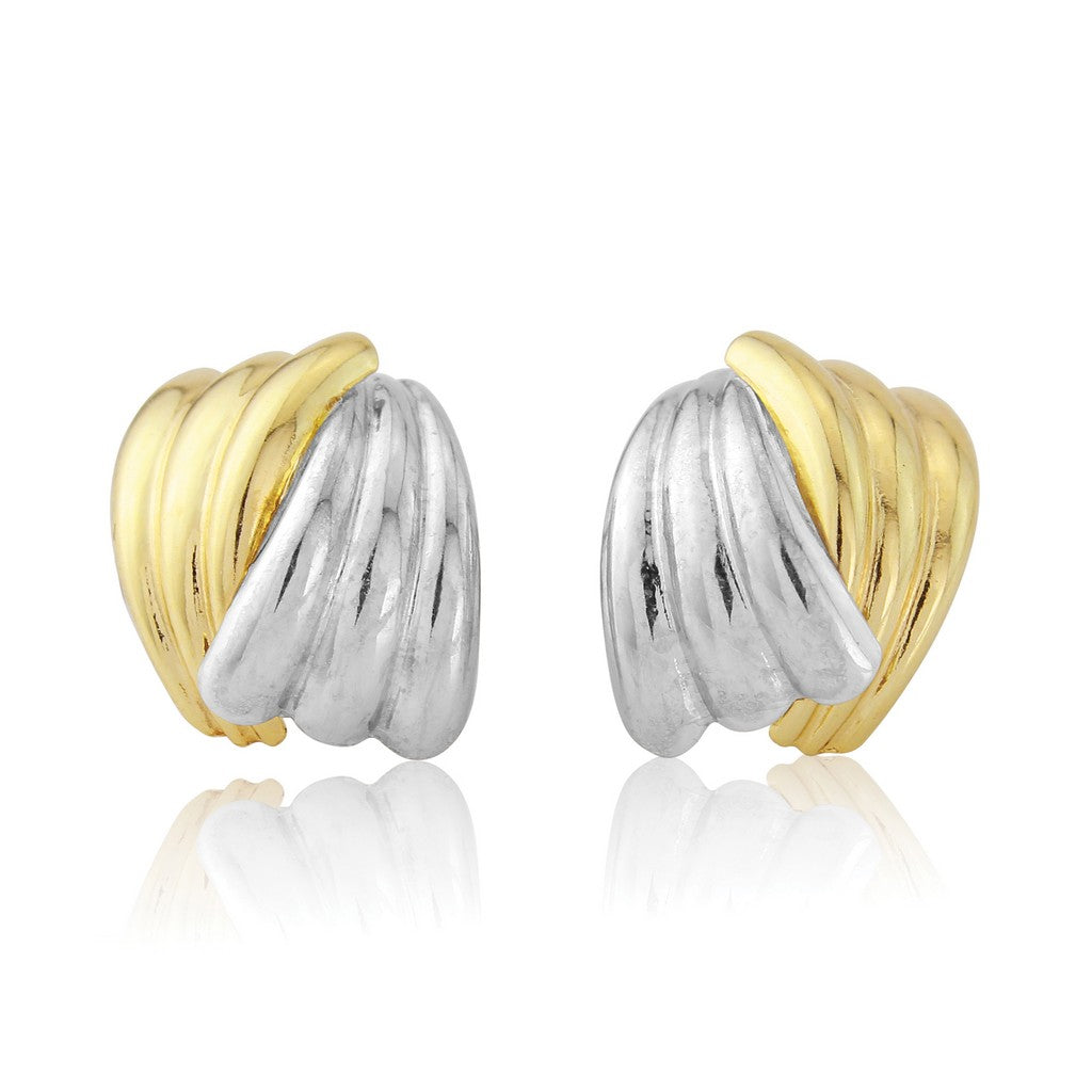 9ct Gold Wave Earrings
