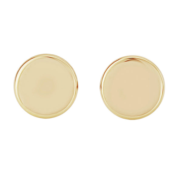 9ct Gold Flat Disk Studs