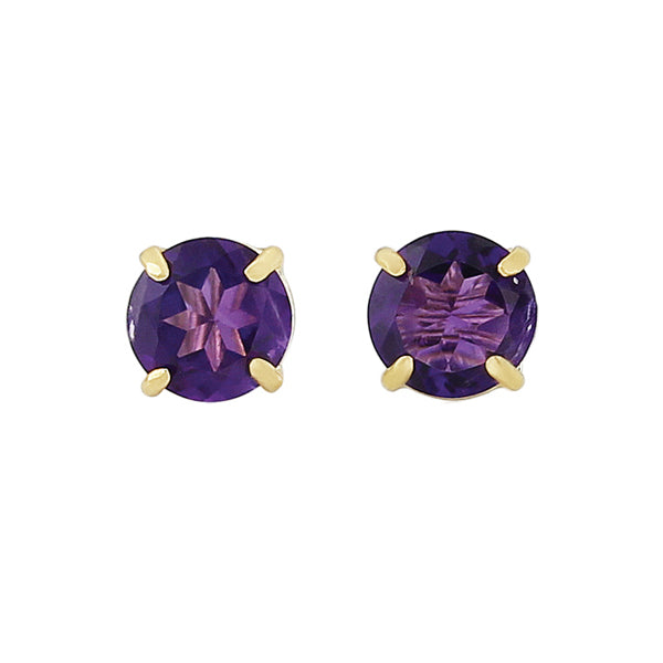 9ct Gold Amethyst Earrings