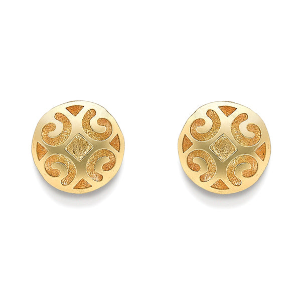 9ct Gold Fancy Cut-Out Studs
