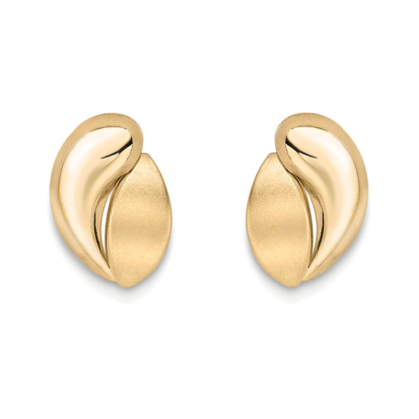 9ct Gold Brushed/Polished Studs