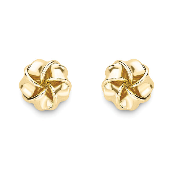 9ct Gold Knot Earrings