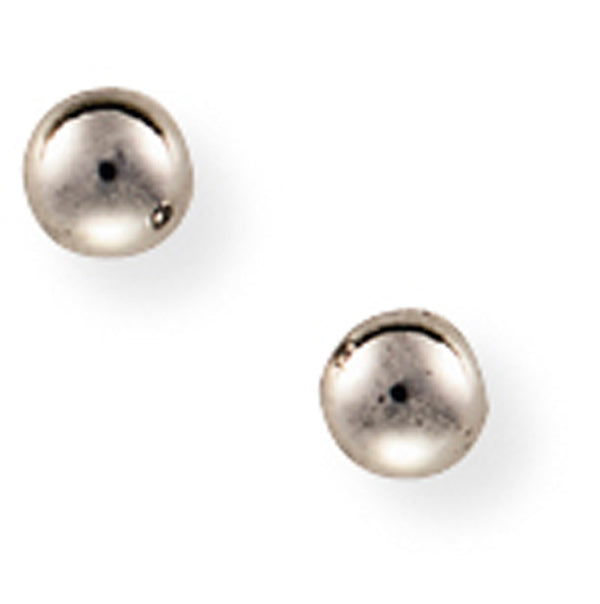 9ct White Ball Earrings